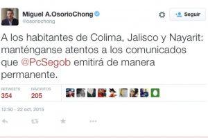 Miguel Angel Osorio Chong, secretario de Gobernación Foto:Twitter