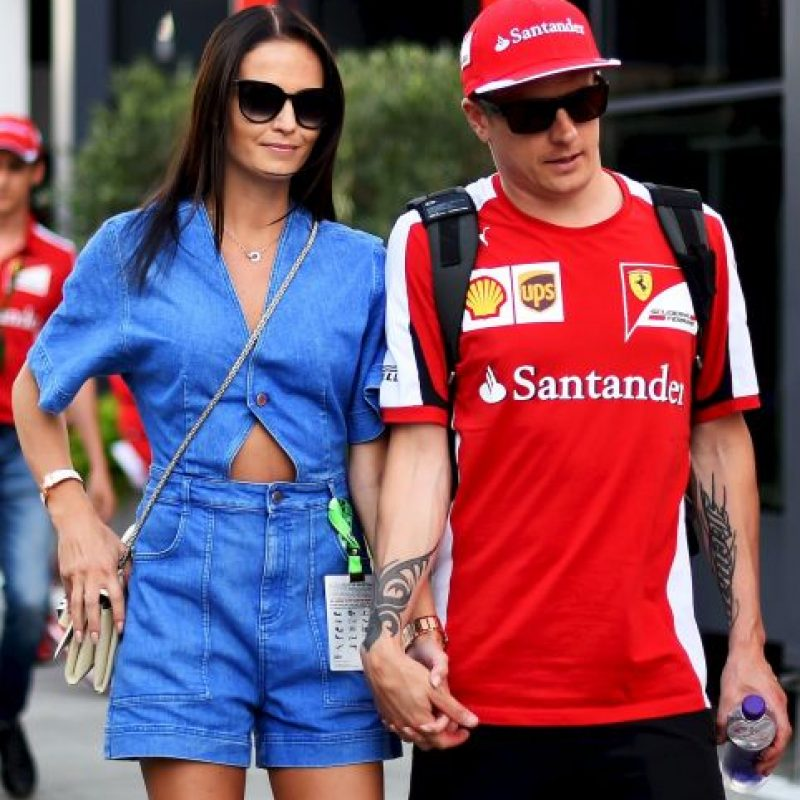 Novia de Kimi Raikkonen (Ferrari) Foto:Getty Images
