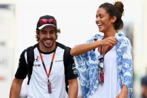 Es la novia de Fernando Alonso (McLaren) Foto:Getty Images