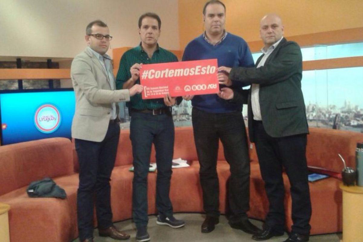 Programas de televisión locales apoyan la campaña. Foto:Vía Twitter @UNASEV