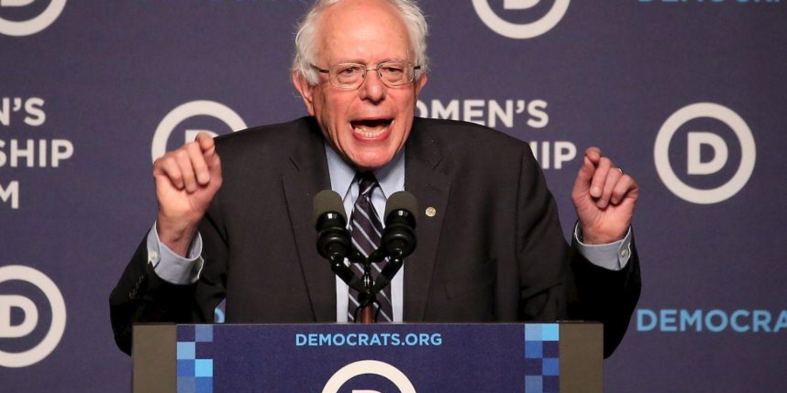 Al evento también asistieron los precandidatos a la presidencia como el senador Bernie Sanders . Foto:AFP