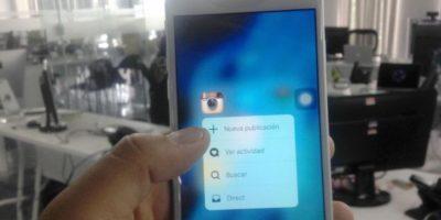 """""""3D Touch"""" es una de las nuevas características del iPhone. Foto:Nicolás Corte / Especial"""