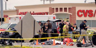 Otros fueron tratados en la escena del crimen. Foto:AP