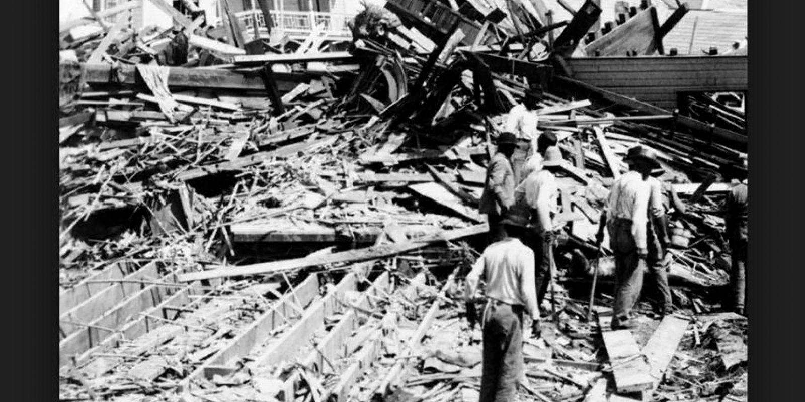 Huracán Galveston tuvo lugar en Texas, Estados Unidos, el 8 de septiembre del año 1900. Se calculan entre seis mil y 12 mil personas muertas Foto:Vía Wikimedia Commons