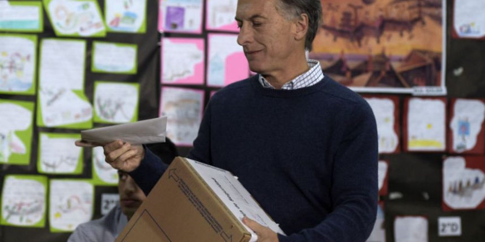 El candidato de Cambiemos se mostró de buen humor. Foto:AFP