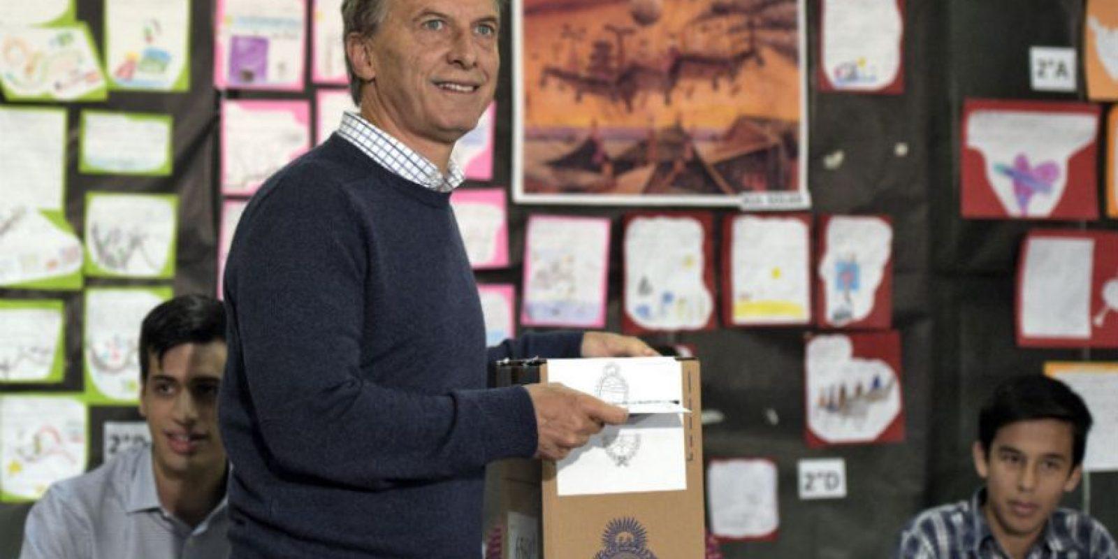 """""""Es un momento de mucha responsabilidad para toda la ciudadanía"""", señaló Macri Foto:AFP"""