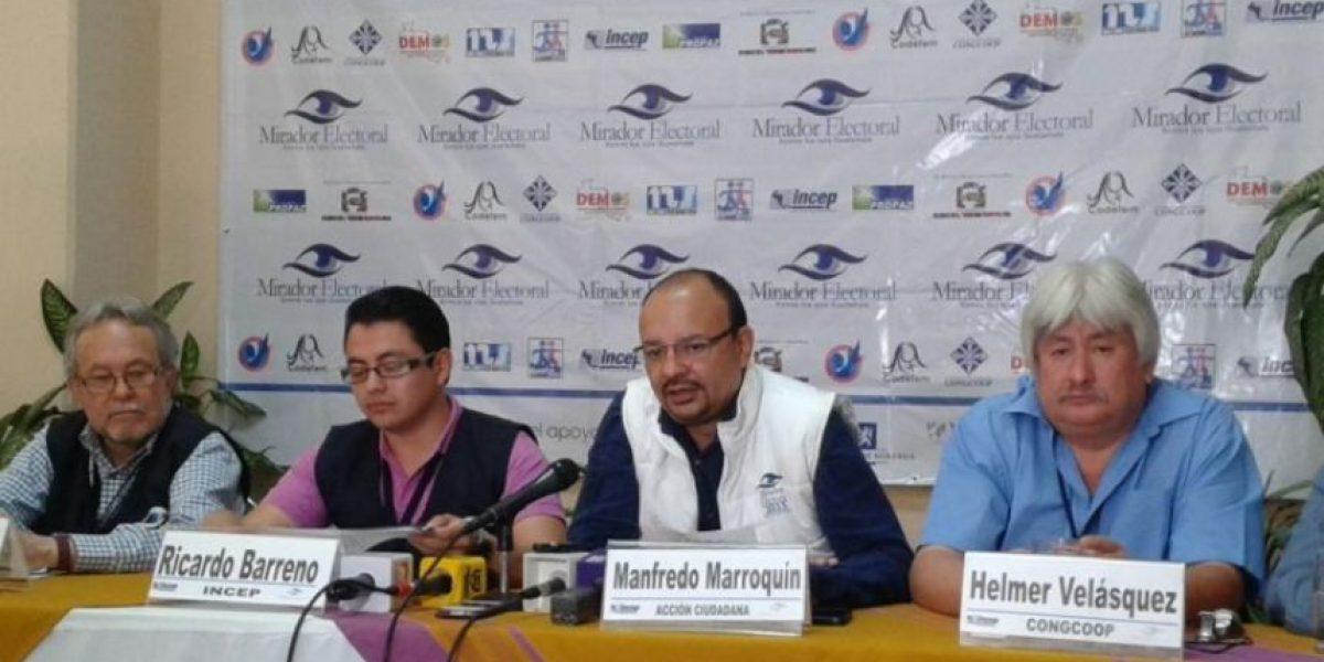 Mirador electoral registra menor afluencia en centros de votación