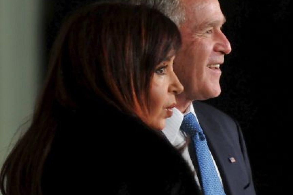 2008, en reunión en la Casa Blanca con el entonces presidente George W. Bush Foto:Getty Images