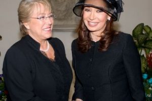 Y con Michelle Bachelet Foto:Getty Images