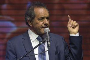 El candidato Daniel Scioli se siente triunfador Foto:AFP