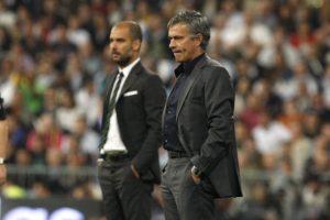 José Mourinho y Pep Guardiola son dos de los mejores entrenadores del mundo en la actualidad, y también, protagonistas de una intensa rivalidad que comenzó hace muchos años. Foto:Getty Images