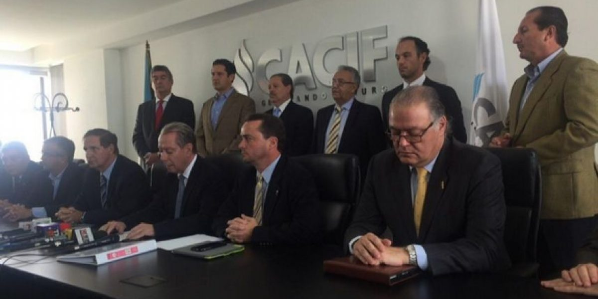 CACIF exige al Presidente electo combatir la corrupción desde el principio