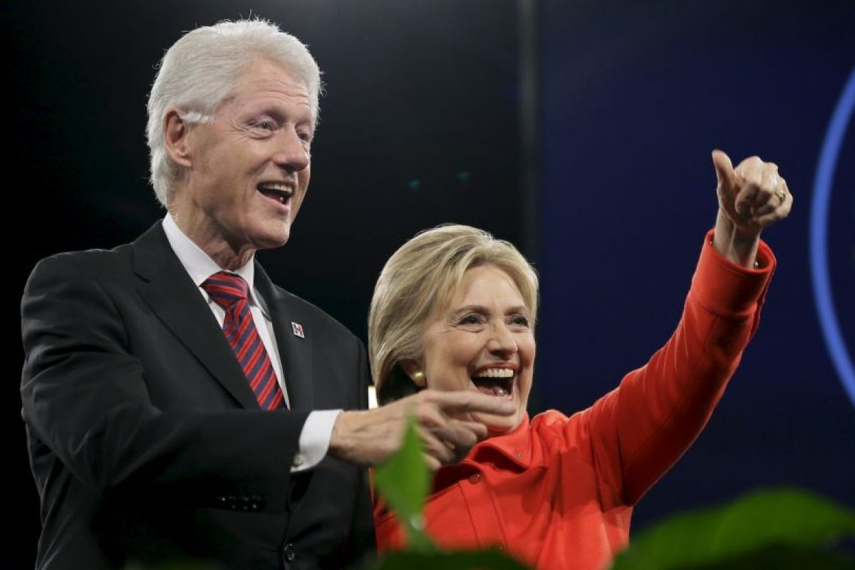 El concierto Perry también fue parte de la primera manifestación liderada por Bill Clinton en la campaña electoral de su mujer. Foto:AP