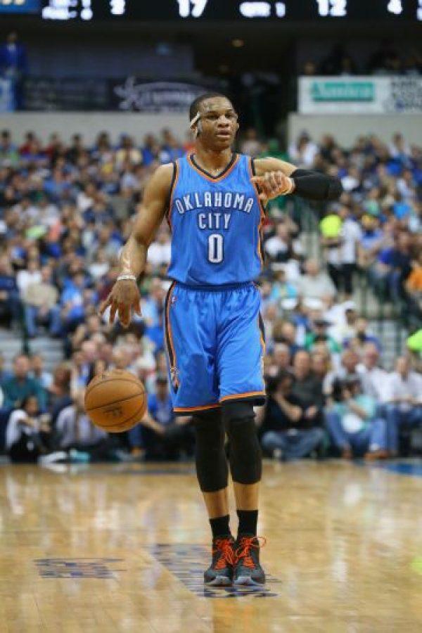 5. Los 5 aspirantes al MVP. El duelo estará cerrado por la calidad de los protagonistas. Uno de ellos es Russell Westbrook (Oklahoma City Thunder) Foto:Getty images