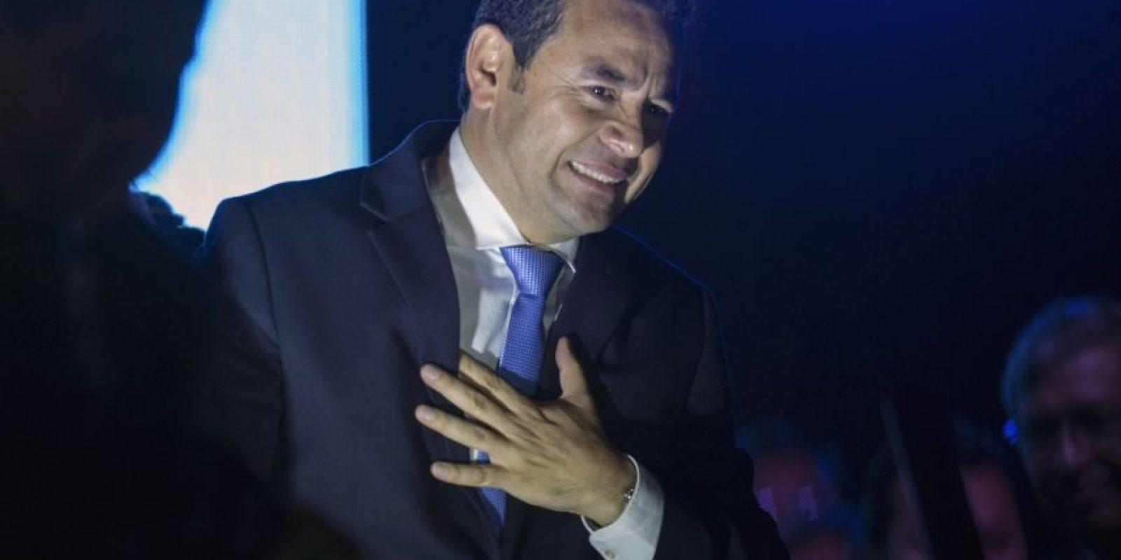 Jimmy Morales, de FCN-Nación Foto:AP