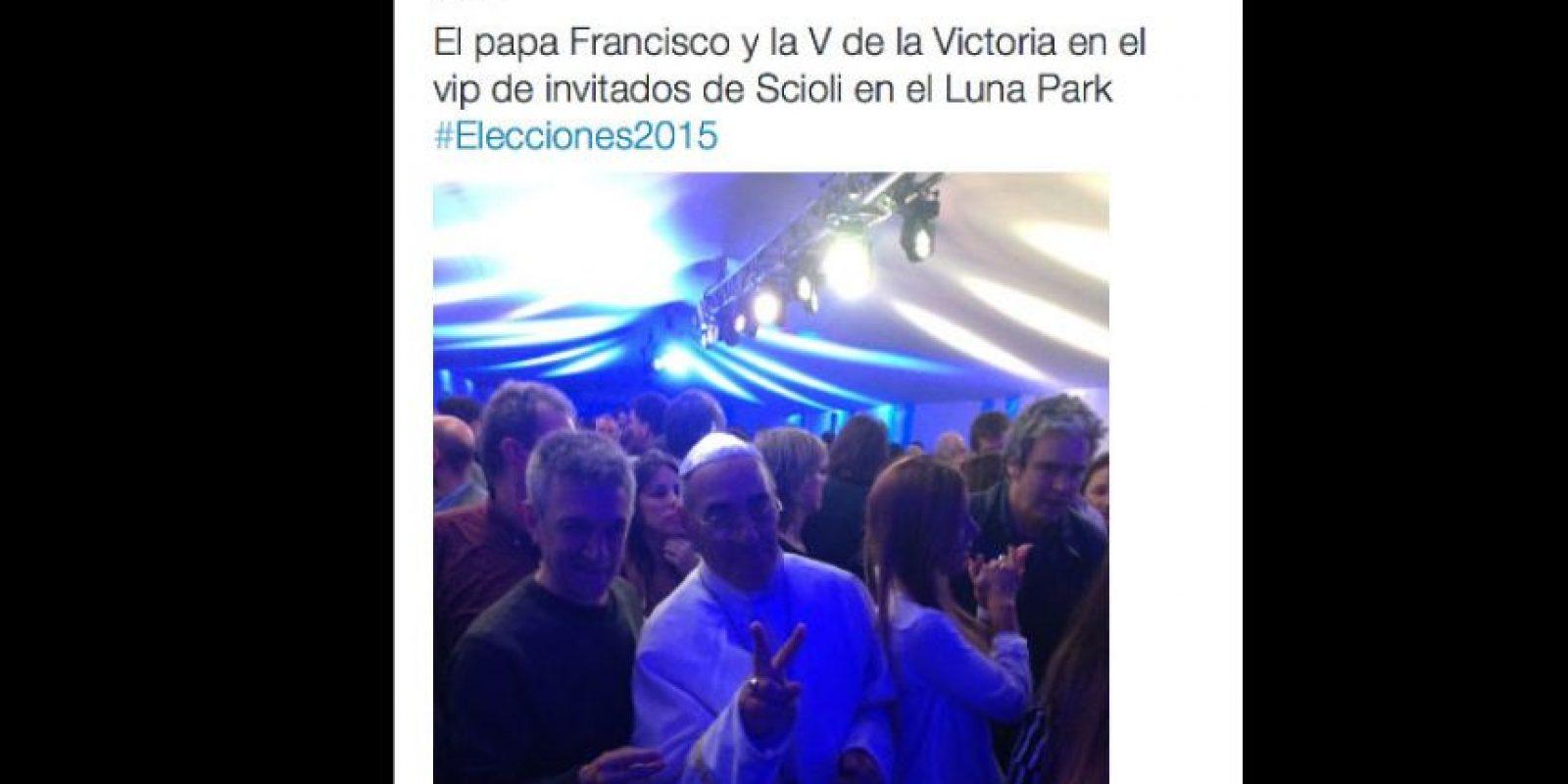 """El """"Papa"""" estuvó presente en las elecciones Foto:Vía Twitter"""