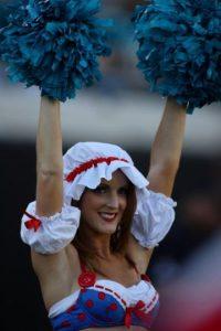 Las porristas de los Jaguares de Jacksonville también participan. Foto:Getty Images