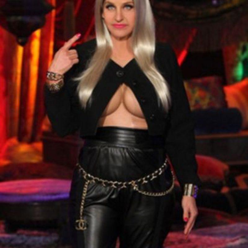 """La comediante, Ellen DeGeneres, también se inspiró en este look de Minaj para su """"noche de brujas"""". Foto:vía instagram.com/ellendegeneres"""
