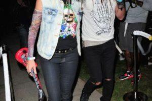 En 2013, la modelo Cindy Crawford eligió disfrazarse como el músico Slash Foto:Getty Images