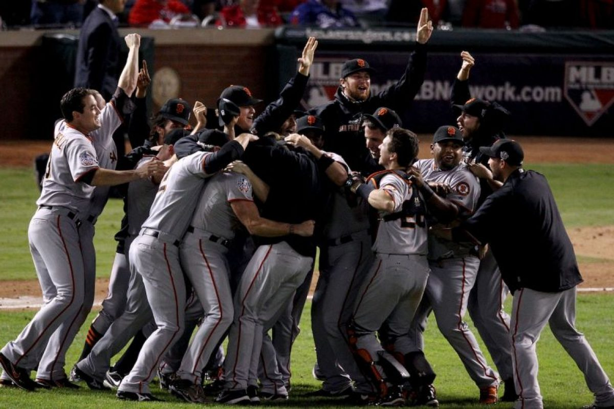 2010 – Gigantes de San Francisco / Vencieron a los Rangers de Texas en cinco juegos. Foto: Getty Images