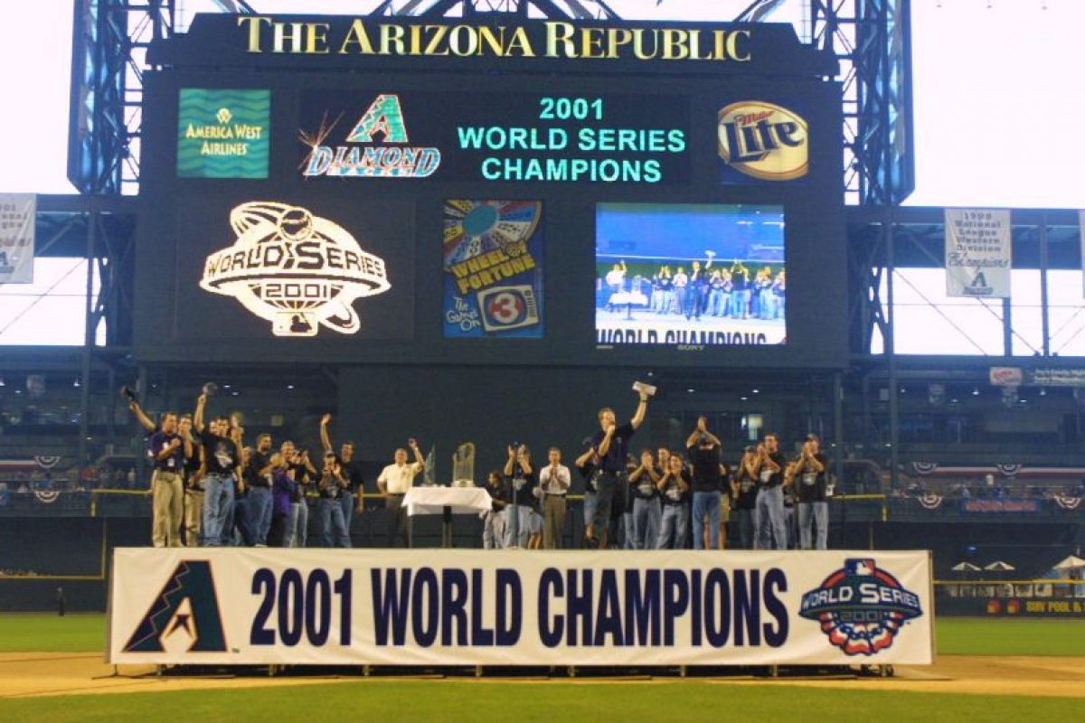 2001 – Diamondbacks de Arizona / Vencieron a los Yankees de Nueva York en siete juegos. Foto: Getty Images