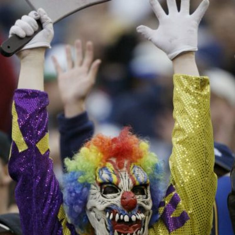 Este payaso tenebroso es seguidor de los Seattle Seahawks. Foto: Getty Images