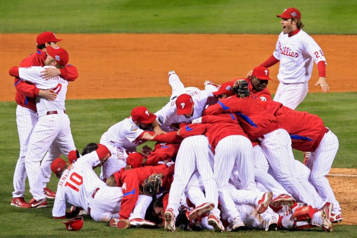 2008 – Phillies de Philadelphia / Vencieron a los Rays de Tampa Bay en cinco juegos. Foto: Getty Images