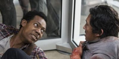"""Quizá la muerte más brutal y sangrienta de """"The Walking Dead"""". Foto:AMC"""