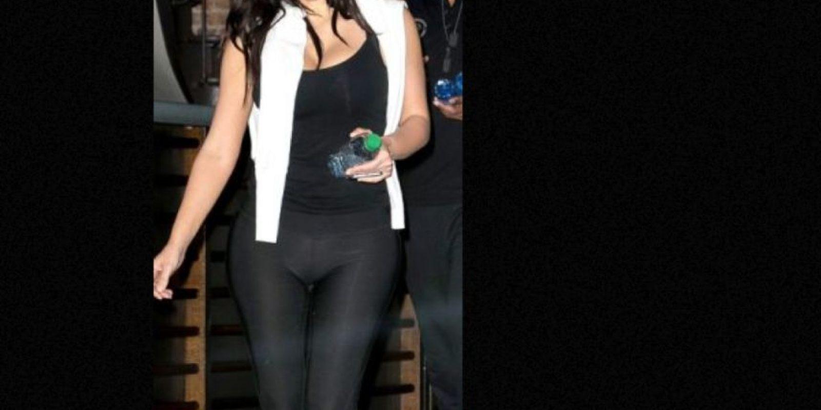 Y con ropa interior contrastante. Foto:vía Getty Images