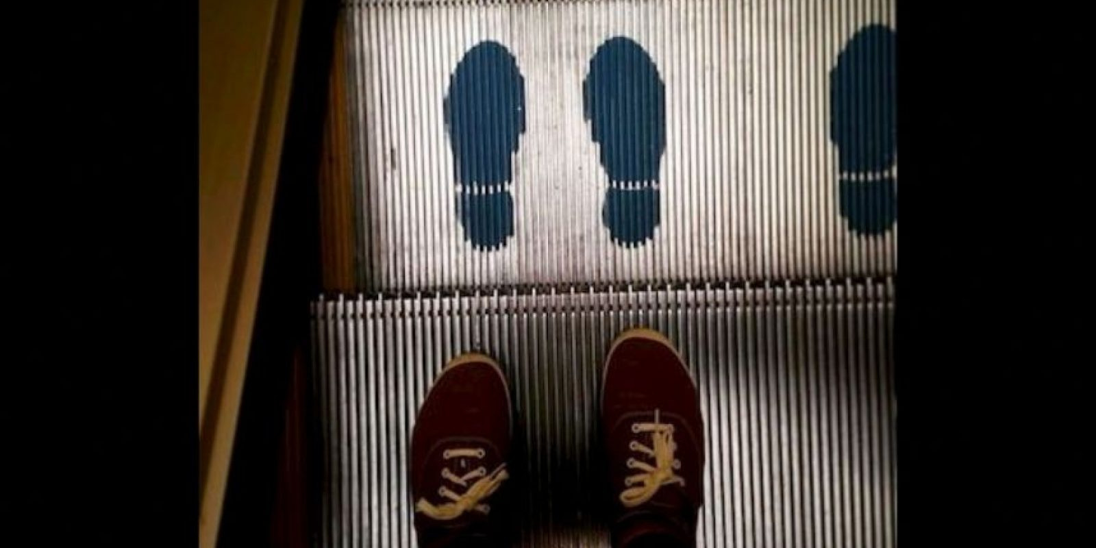 No usar estas escaleras en estado de embriaguez Foto: Instagram.com/explore/tags/escalator/