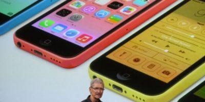 Tim Cook en la presentación del iPhone 5s y iPhone 5c el 10 de septiembre de 2013. Foto:Getty Images