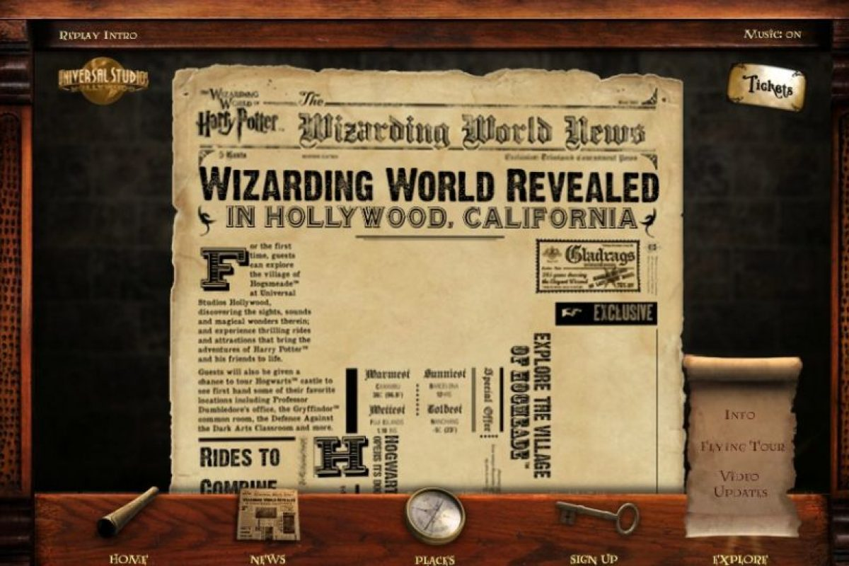 """Finalmente, el viaje virtual ofrece un adelanto de """"Harry Potter and the Forbidden Journey"""", una de las atracciones más esperadas que ofrecerá este nuevo parque. Foto:www.wizardingworldhollywood.com"""