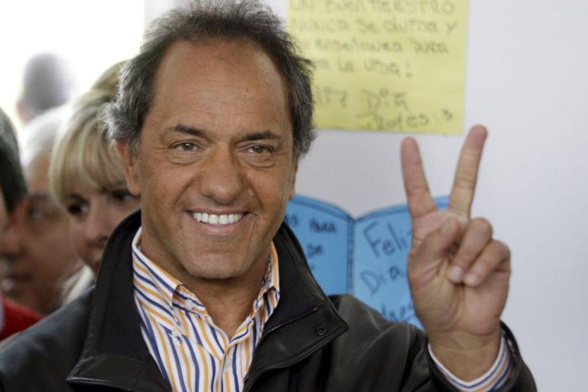 Provincia en la que será sucedido por Maria Eugenia Vidal, candidata opositora Foto:AP