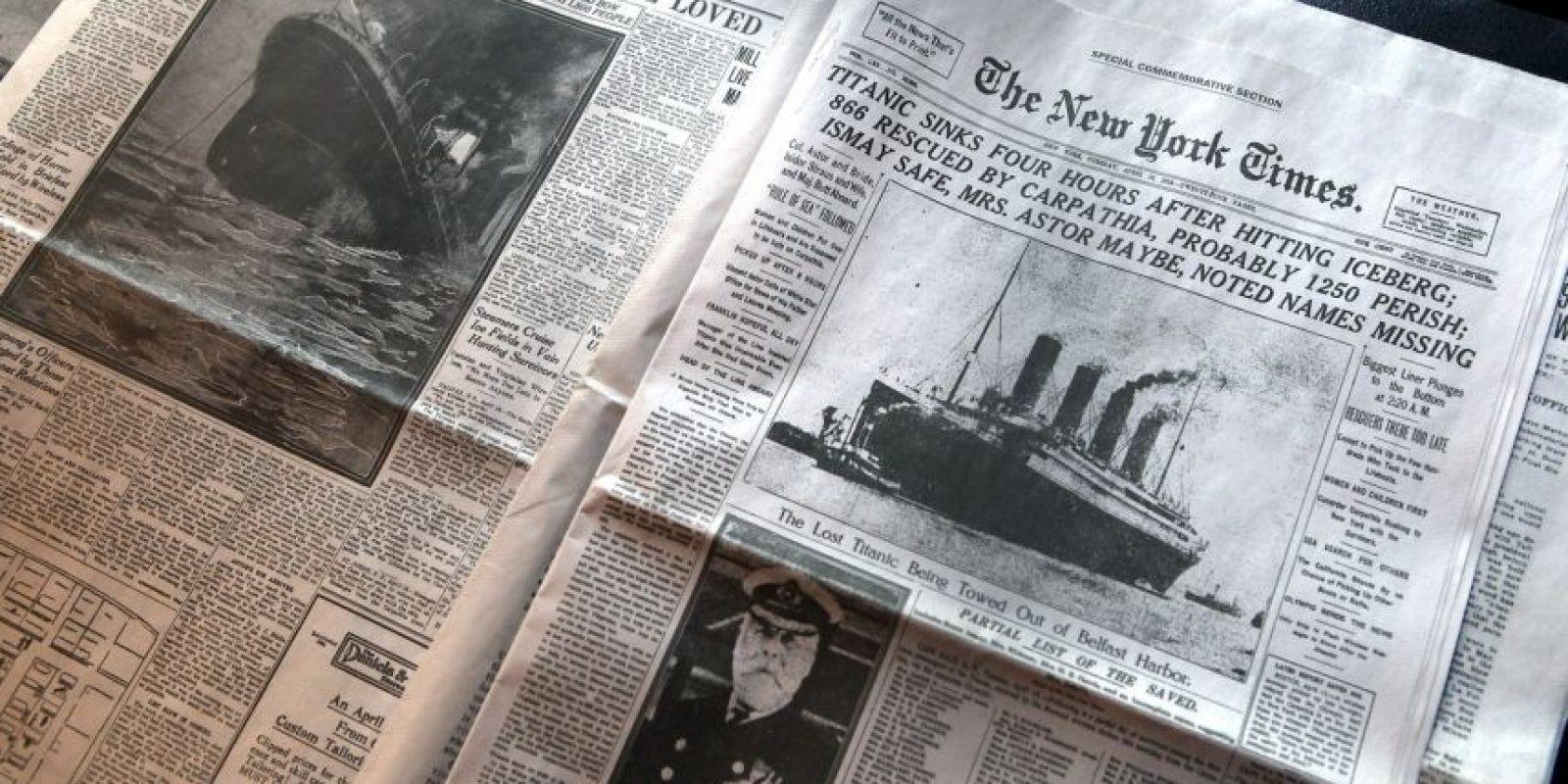 Periódicos de la época que dieron cuenta de la tragedia Foto:Getty Images