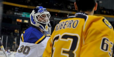 5. Un partido de hockey sobre hielo en enero pasado. Foto:Getty Images