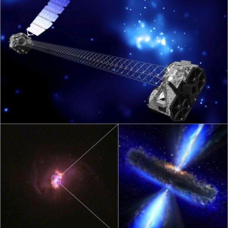 Así luce el telescopio Nuclear Spectroscopic Telescope Array (NuSTAR), que ayuda al análisis de los rayos X Foto:Vía nasa.gov