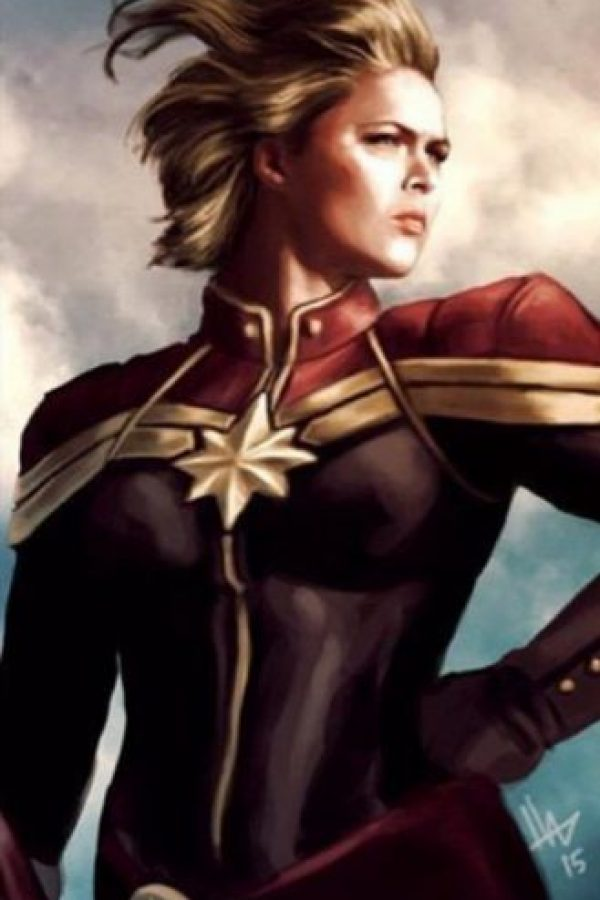 """Y así luce al estilo del """"Capitán América"""". Foto:Vía instagram.com/RondaRousey"""