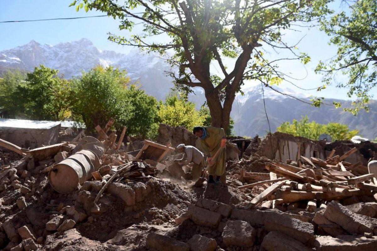 Estragos del terremoto que azotó Afganistán, Pakistán e India. Más de 300 personas fallecieron. Foto:AFP