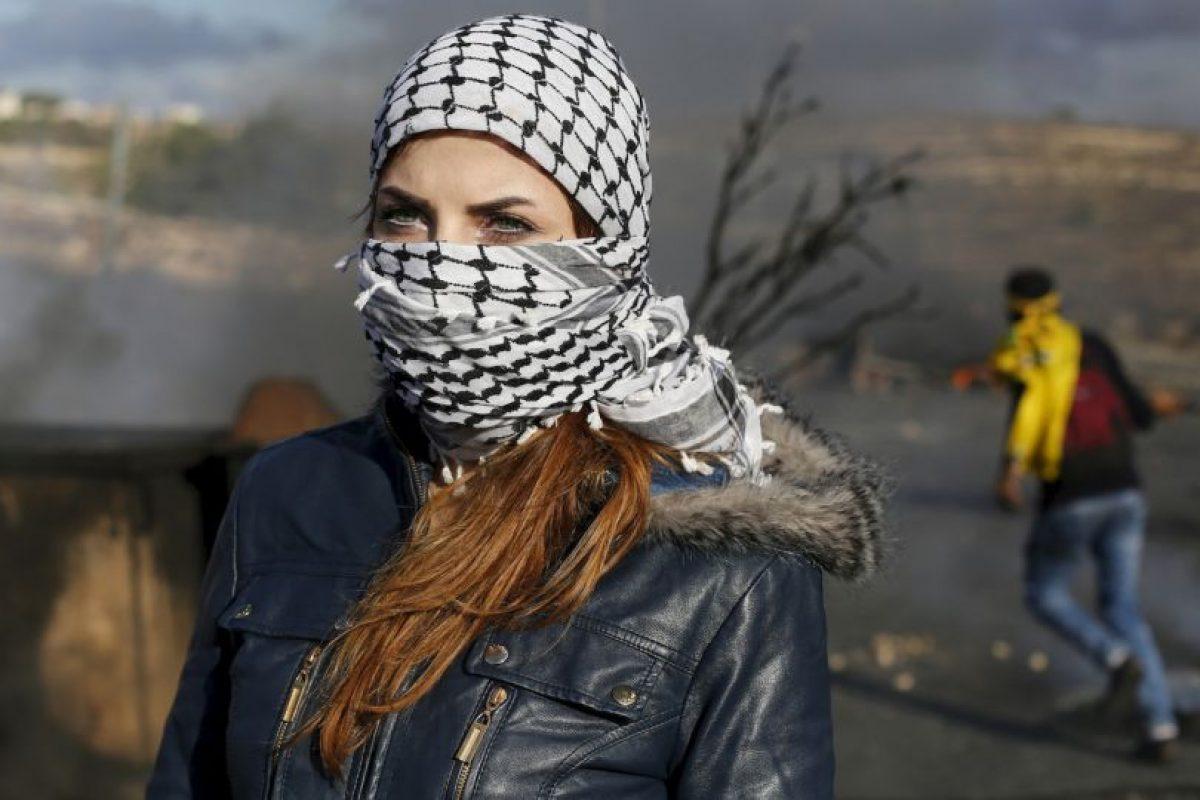 Estudiante palestina. Foto:AFP