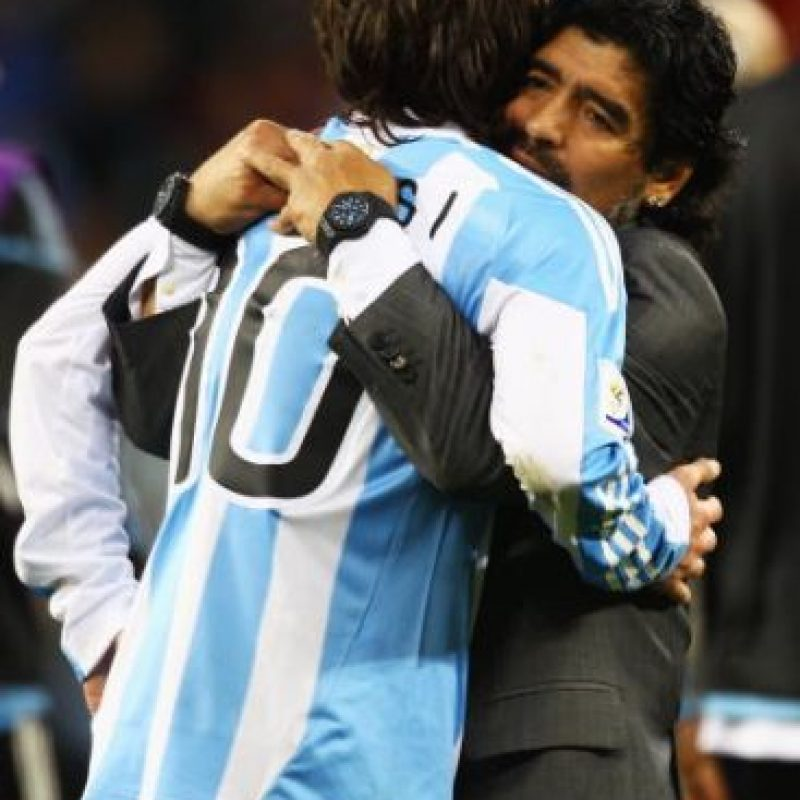 Diego Maradona y Lionel Messi son considerados los dos futbolistas más grandes de la historia de Argentina. Foto:Getty Images