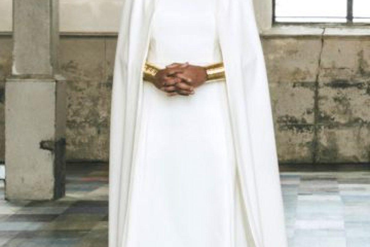 Solange en su boda.