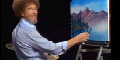 Ahora pueden ver a Bob Ross pintando árboles felices. Foto: facebook.com/The-Joy-of-Painting-with-Bob-Ross-150008825045842