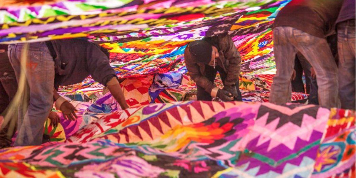 Santiago, Sacatepéquez, se prepara para su Festival de Barriletes