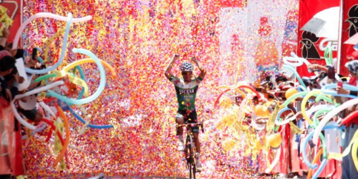#VueltaAGuatemala Duarte se cubre del color del triunfo y Rodas sigue líder