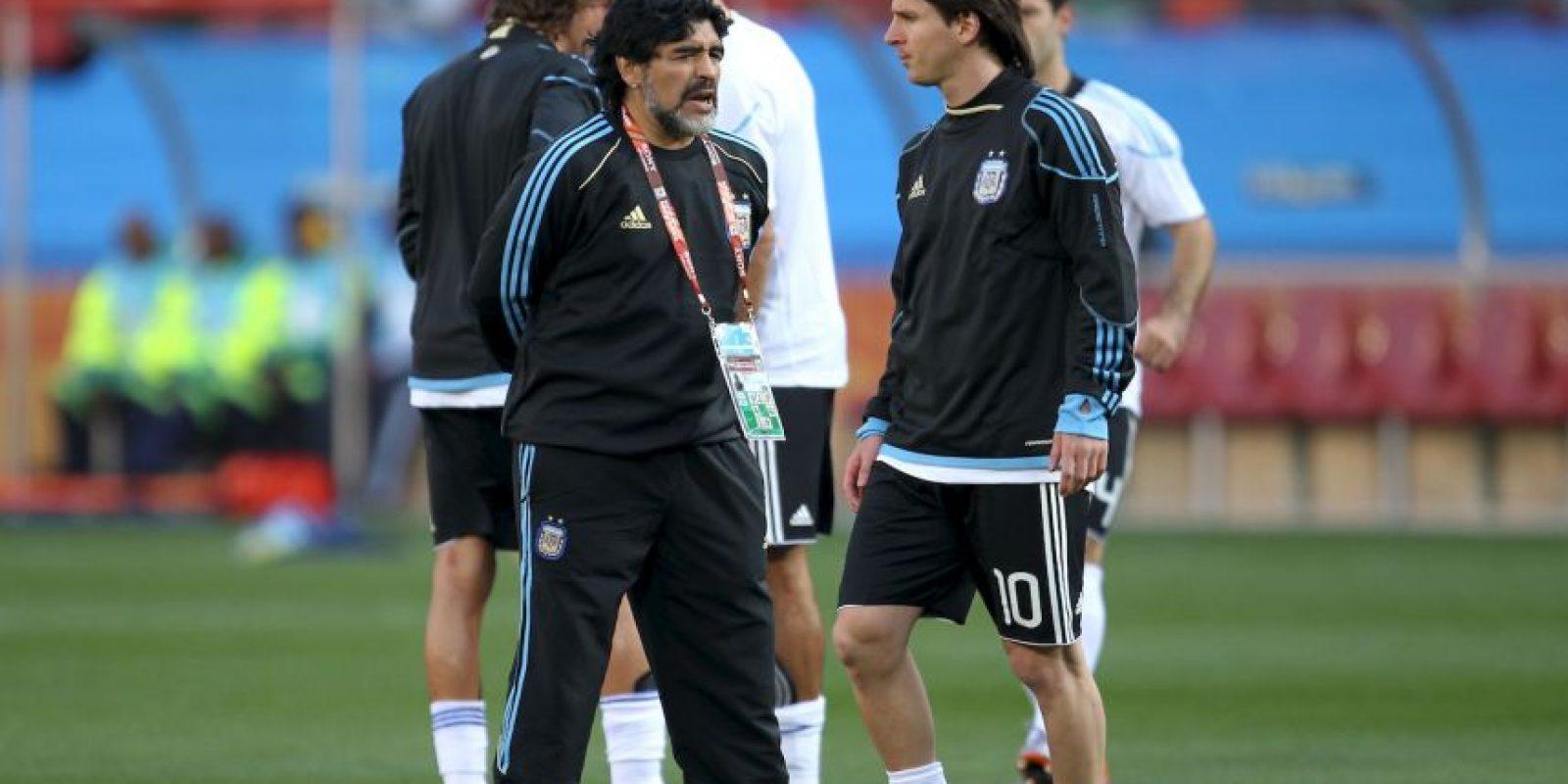 Coincidieron de 2008 a 2010, cuando Diego Maradona dirigió a la Selección Argentina. Foto:Getty Images