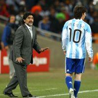 Con ellos, Diego llegó al Mundial de Sudáfrica 2010, y superaron sin problemas la fase de grupos. Foto:Getty Images