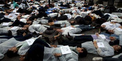 La manifestación se llevó a cabo en Nueva York Foto:Getty Images