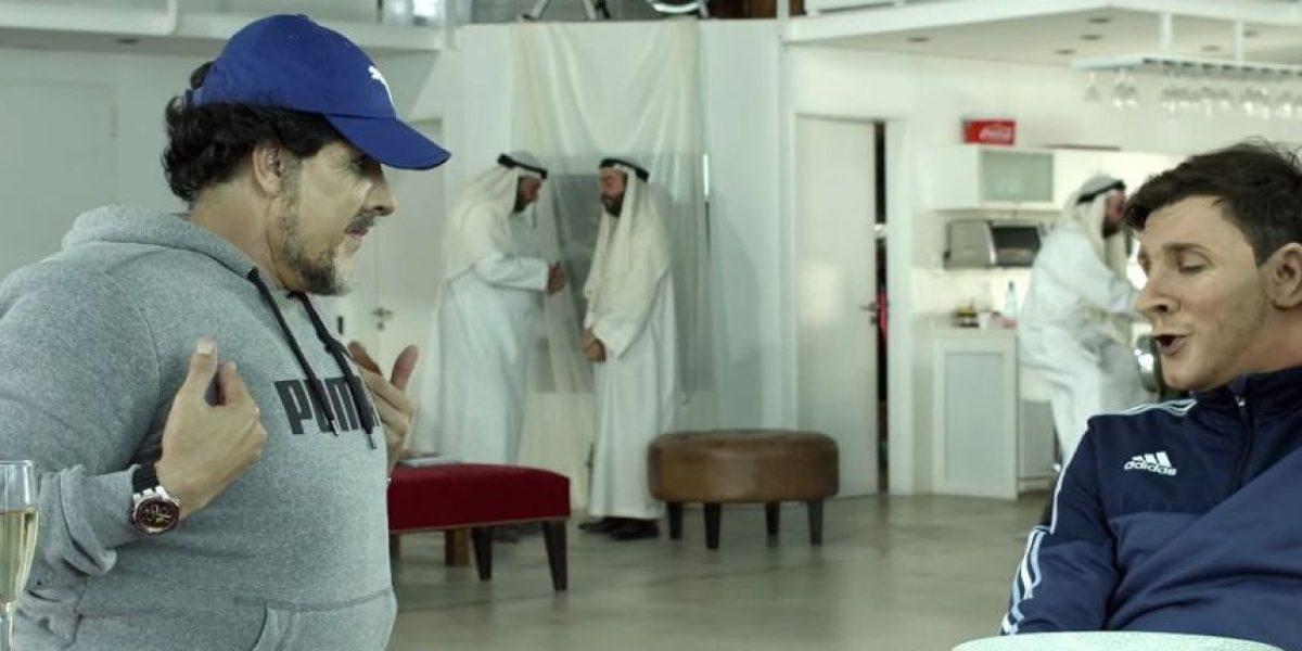 Video: Messi visitó a Maradona en divertida parodia por el cumpleaños de