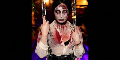 Este zombie es Demi Lovato Foto: Getty Images
