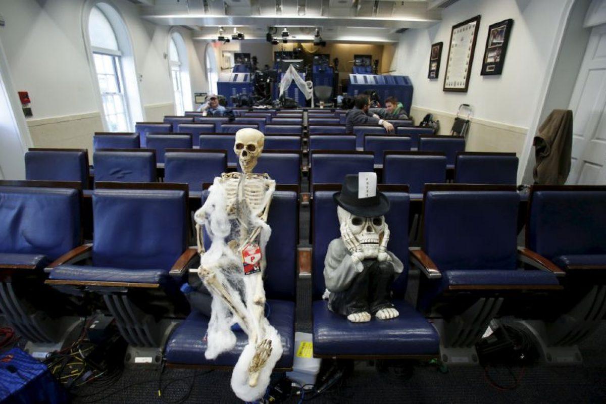 La sala de prensa de la casa presidencial Foto:AFP